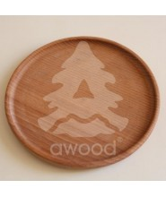 Awood Dřevěný talíř 25 cm