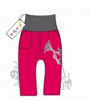 Unuo Softshellové kalhoty BASIC červené vel. 110/116