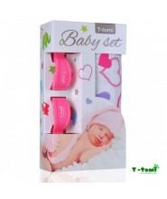 T-tomi Baby set - bambusová osuška + kočárkový kolíček (různé barvy)
